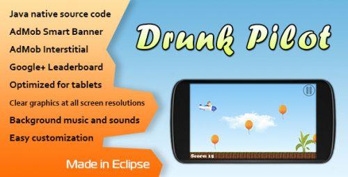 دانلود سورس codecanyon – Drunk Pilot with AdMob and Leaderboard