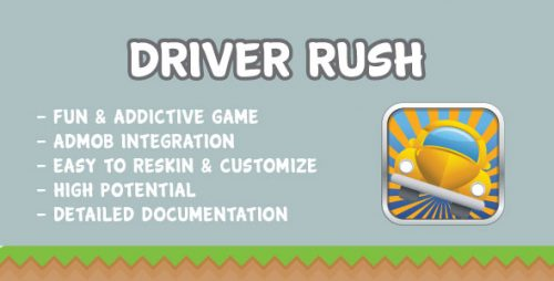دانلود سورس codecanyon – Driver Rush with AdMob