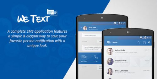 دانلود سورس codecanyon – WeText – Mobile SMS Application with AdMob