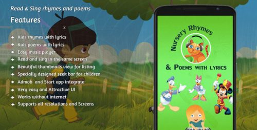 دانلود سورس codecanyon – Nursery rhymes and poems with lyrics