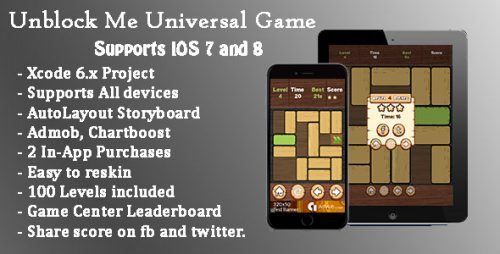دانلود سورس codecanyon – Unblock Me Universal Game Swift