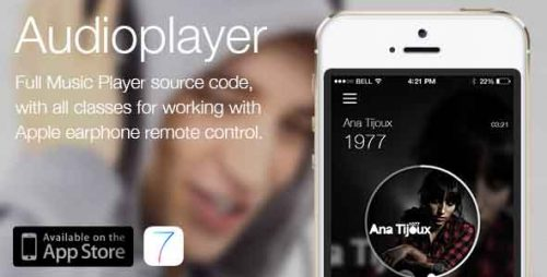 دانلود سورس Audioplayer – Works with apple earphone remote