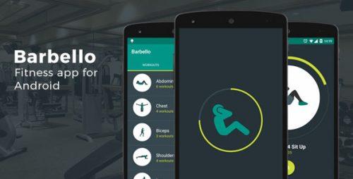 دانلود سورس برنامه ورزشی اندروید codecanyon – Barbello: Fitness App for Android