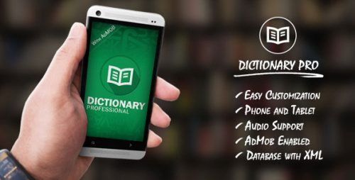 دانلود سورس دیکشنری اندروید codecanyon – Dictionary Pro Template with AdMob