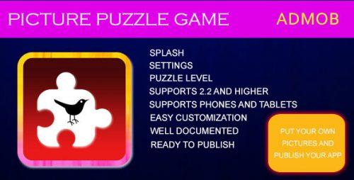 دانلود سورس بازی پازل اندروید codecanyon – PICTURE PUZZLE GAME
