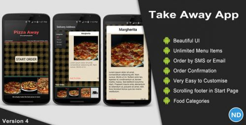 دانلود سورس codecanyon – Take Away App