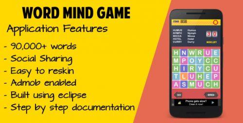 دانلود سورس بازی حدس کلمه اندروید codecanyon – Word Mind Game