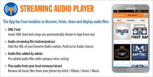 دانلود سورس پخش شبکه های رادیویی اندروید codecanyon – Streaming Audio Player