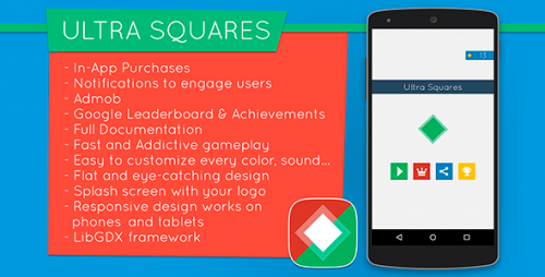 دانلود سورس codecanyon – Ultra Squares – Highly Addictive Game Template