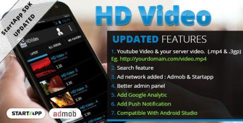 دانلود سورس آپارات اندروید codecanyon – HD Video
