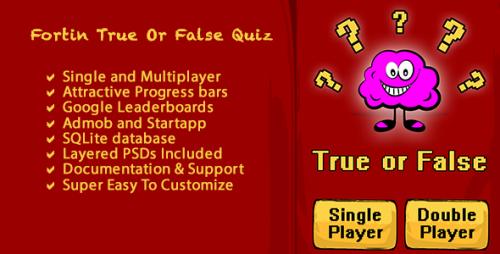 دانلود سورس کد codecanyon – Fortin True False Multi Player Quiz