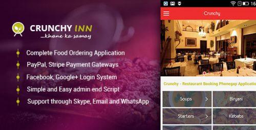 دانلود سورس کد codecanyon – Crunchy – Restaurant Booking Phonegap Application
