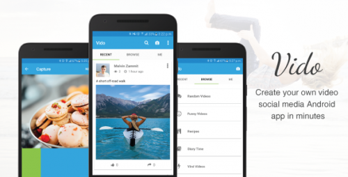 دانلود سورس کد codecanyon – Vido – Video Social Media App Template