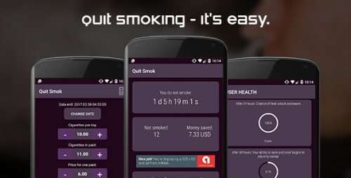 دانلود سورس ترک سیگار اندروید codecanyon – Quit smoking