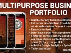 دانلود سورس رزومه کاری اندروید codecanyon – Multipurpose Business Portfolio App