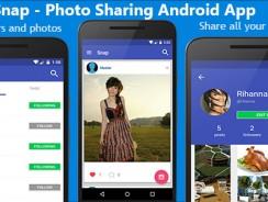 دانلود سورس کد نرم افزار اشتراک عکس شبیه اینستاگرام codecanyon – Snap – Photo Sharing Android App