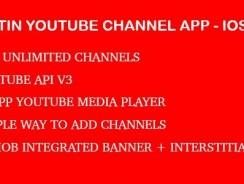 دانلود سورس کد codecanyon – Fortin Video Channel App – Youtube Api V3 IOS