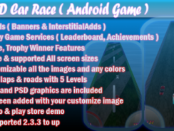 دانلود سورس کد codecanyon – 3D Car Race + Leaderboard + Achievement + Admob