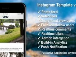 دانلود سورس اینستاگرام Photo/Video Social Application with Firebase ios