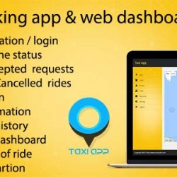 Taxi booking iOS app & web dashboard, complete solution